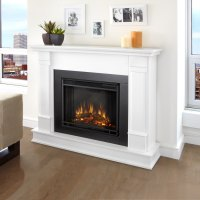 Shop Real Flame 48-in W White Led Electric Fireplace at ...
