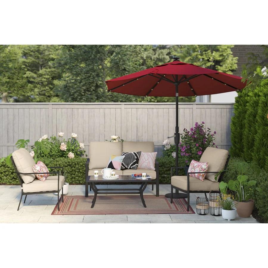 style selections glenn hill 4 piece patio conversation set
