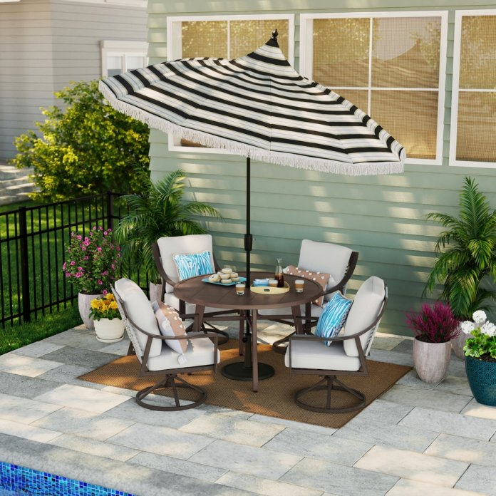 Shop Style Selections Chantilly 5 Piece Patio Dining Set At Lowes Com