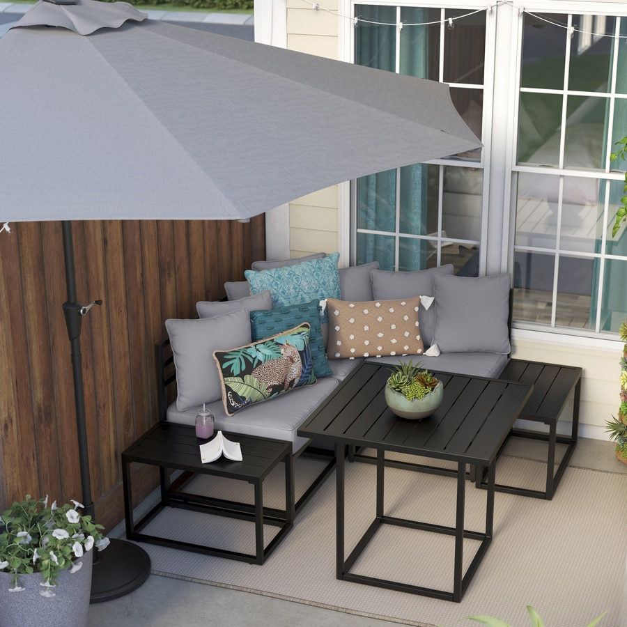 style selections edgemere 5 piece sectional patio set