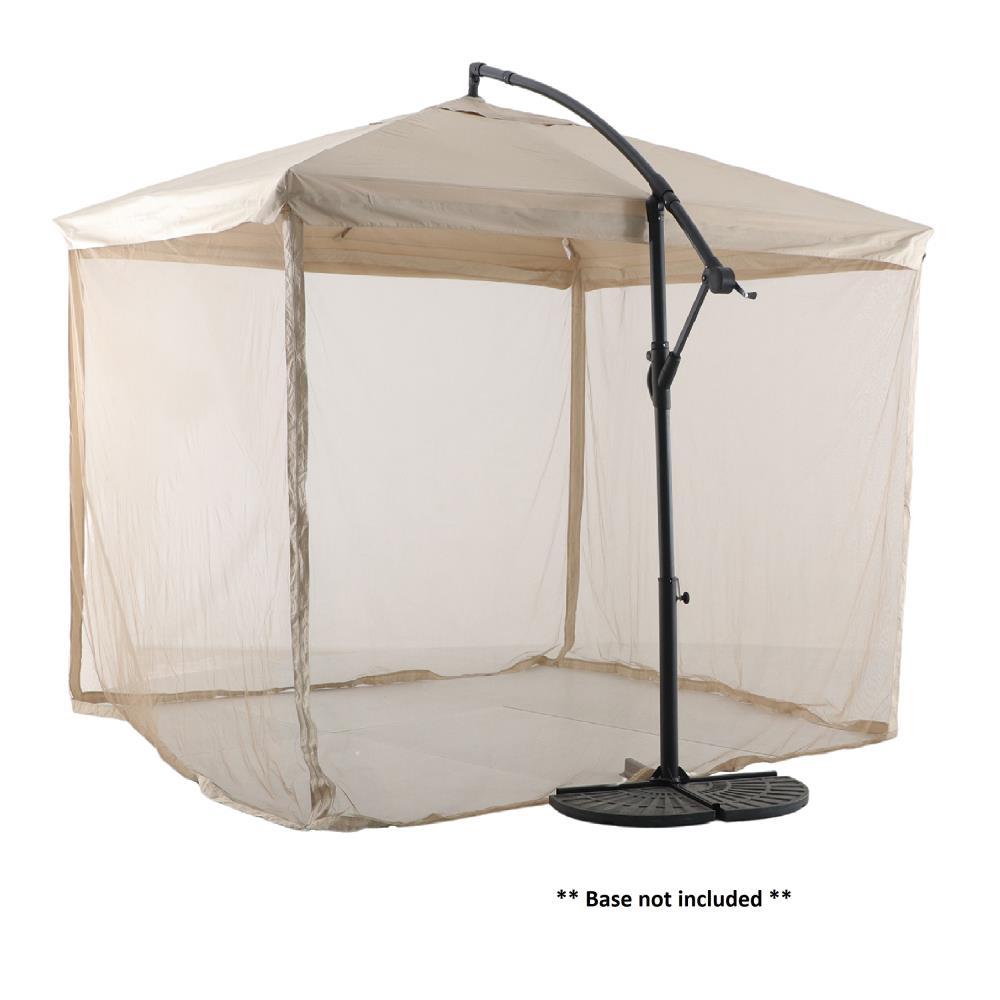 style selections 10 ft tan crank offset patio umbrella