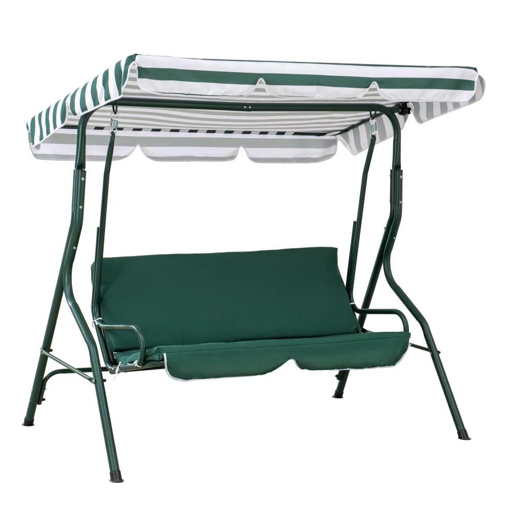 sunjoy green porch swing canopy