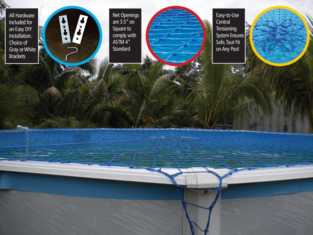 Keep your pool in the best shape during the off seasons with this swimline 24 foot round above ground pool winter cover. Waterwarden 30 Ft X 30 Ft Pool Safety Net 27 Ft Round Polyethylene Safety Pool Cover In The Pool Covers Department At Lowes Com