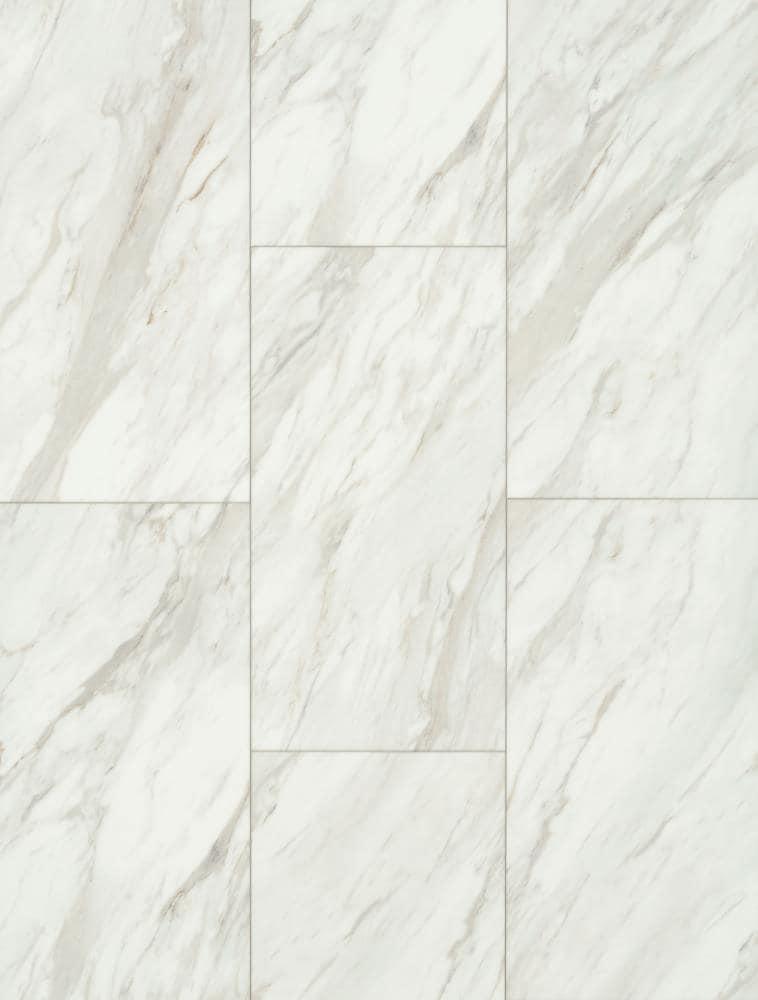smartcore pro gardena marble 12 in x 24 in water resistant interlocking luxury vinyl tile 15 83 sq ft