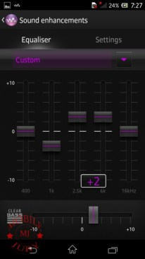 Equaliser manual- Sony Xperia Z