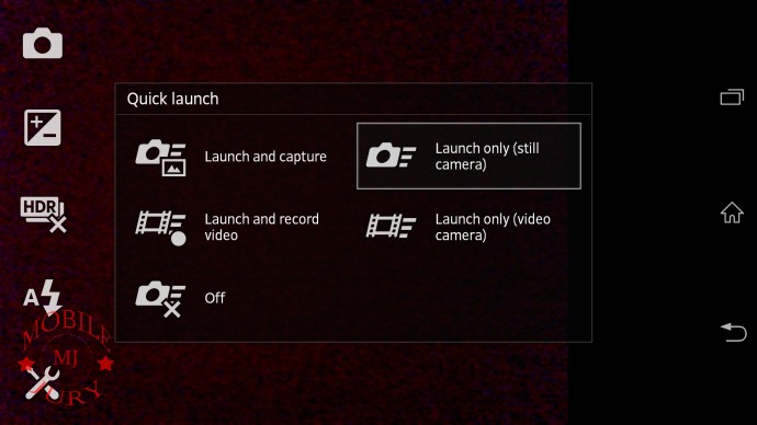 Quick launch- Sony Xperia Z
