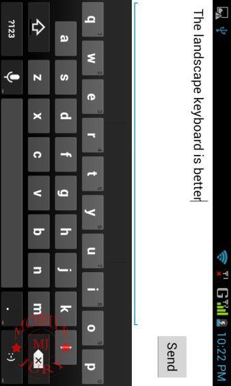 landscape keyboard is better