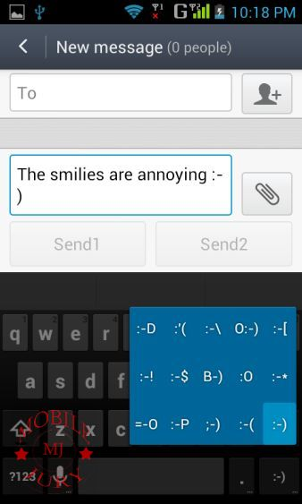 smilies are not user friendly