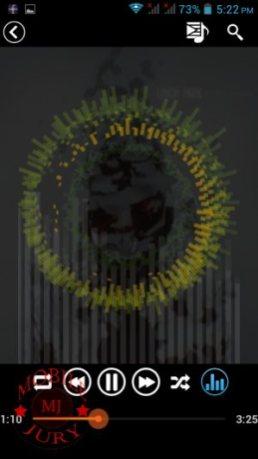 Music player visualization_Lava Iris 506Q