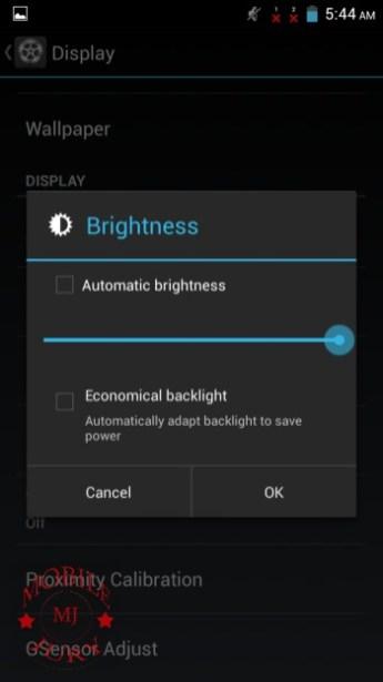 Brightness_Karbonn Titanium S9
