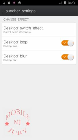 launcher settings- Gionee Elife S5.5 Review