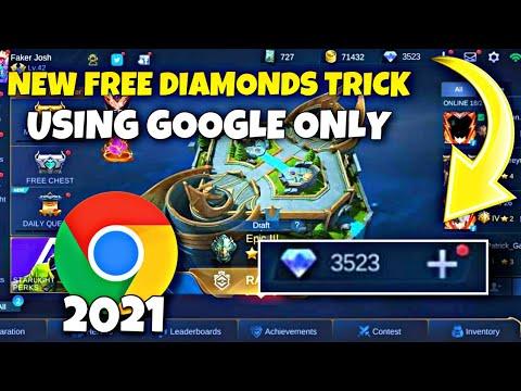 NEW FREE DIAMONDS USING GOOGLE ONLY 2021 - FREE DIAMONDS MOBILE LEGENDS 2021