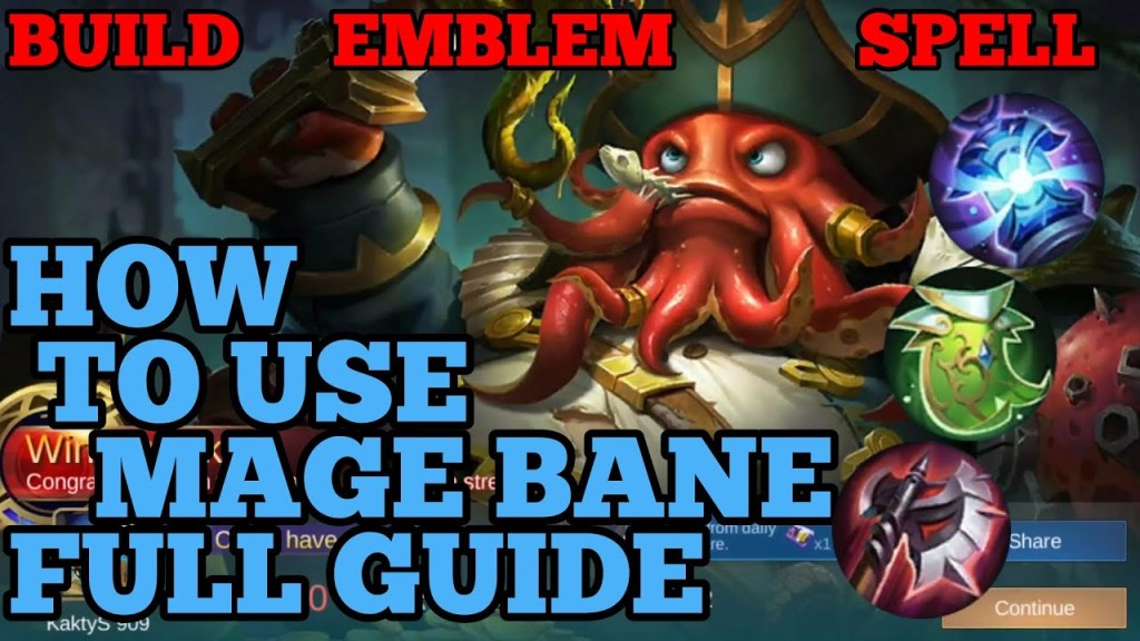 How to use mage Bane guide & best build mobile legends ml