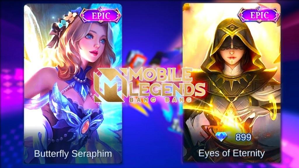 Lunox | Eyes of Eternity Skin VS Butterfly Seraphim Skin | Mobile Legends Bang Bang