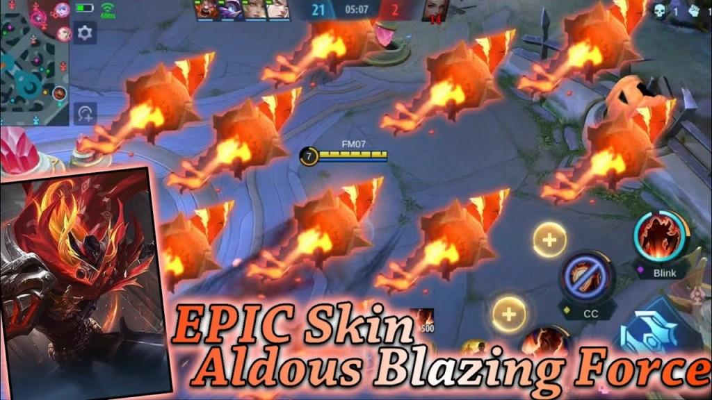 Mobile Legends New Skin - Aldous New Epic Skin | Blazing Force | Facta Saiyan