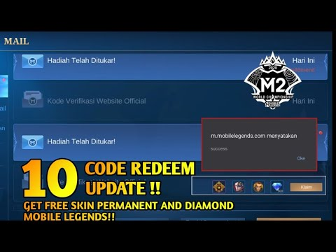 NEW CODE REDEEM GET FREE SKIN PERMANENT AND DIAMOND MOBILE LEGENDS