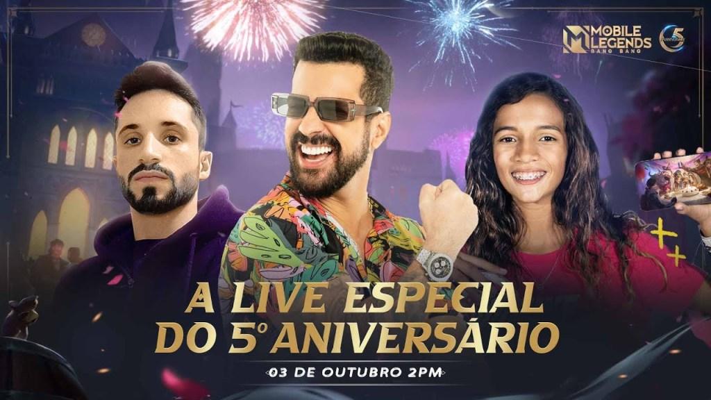 A LIVE ESPECIAL DO 5º ANIVERSÁRIO