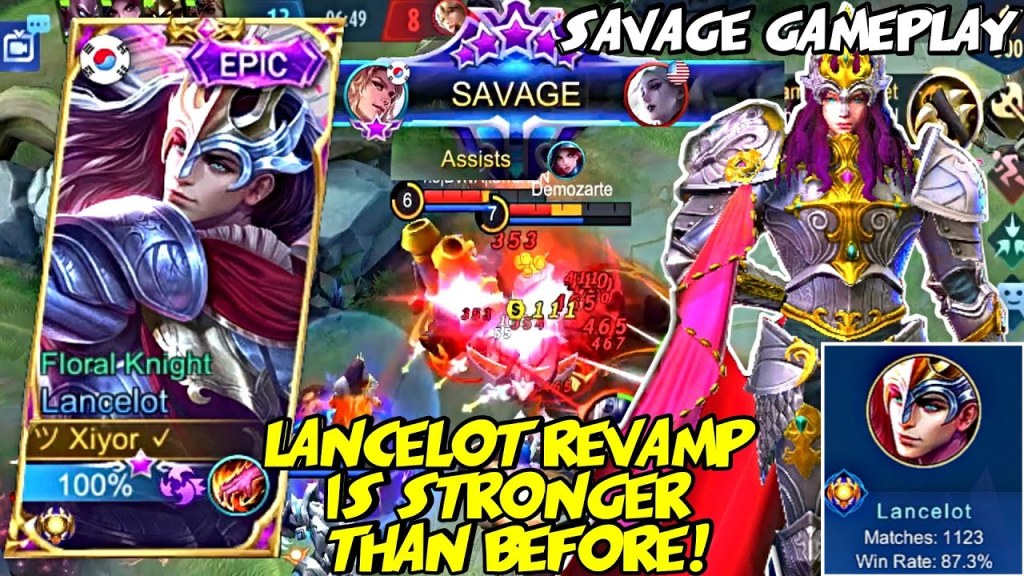 LANCELOT REVAMP IS STRONGER THAN BEFORE! | FIRST GAME SAVAGE | MOBILE LEGENDS