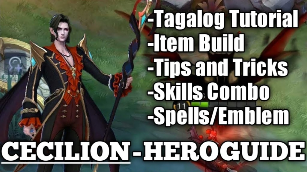Cecilion (OP Mage) - Full Tagalog Tutorial | Skills Analysis || Mobile Legends