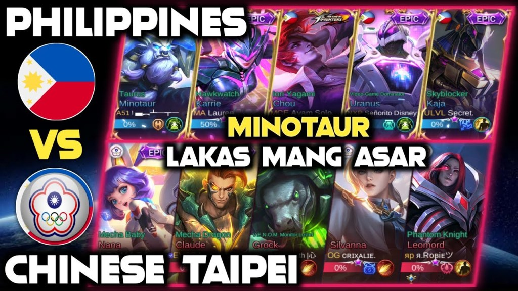 Minotaur Philippines Inasar ang Team Chinese Taipei | National Arena Contest | Mobile Legends