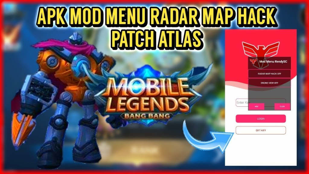 TERBARU!!! APK MOD MENU RADAR MAP HACK PATCH ATLAS - MOBILE LEGENDS BANG BANG