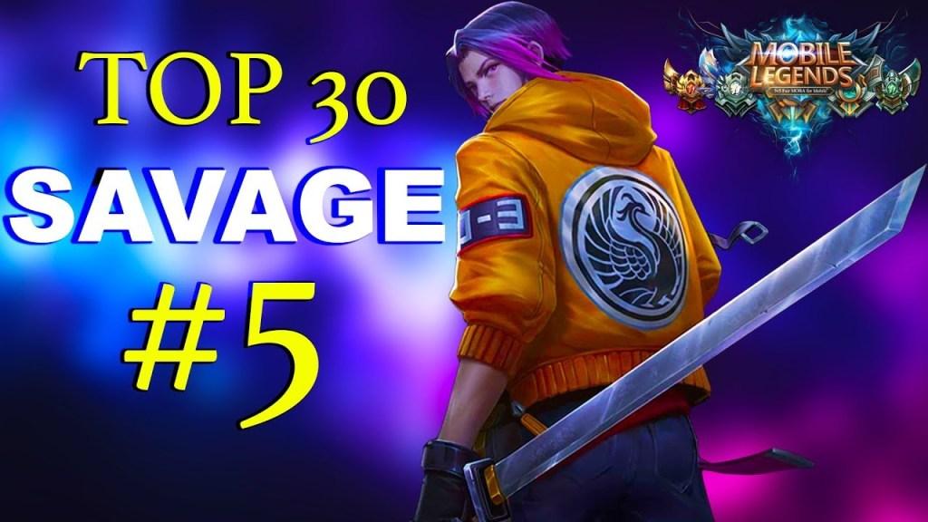 TOP 30 SAVAGE MOMENTS #5 ~ Mobile Legends: Bang Bang