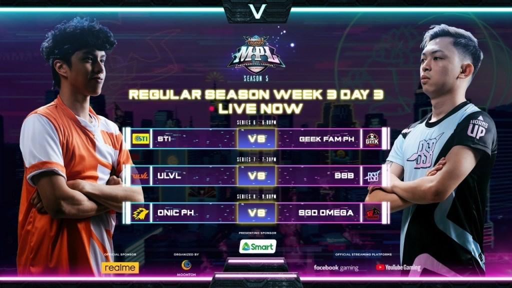 [English] MPL Philippines Season 5 Week 3 Day 3