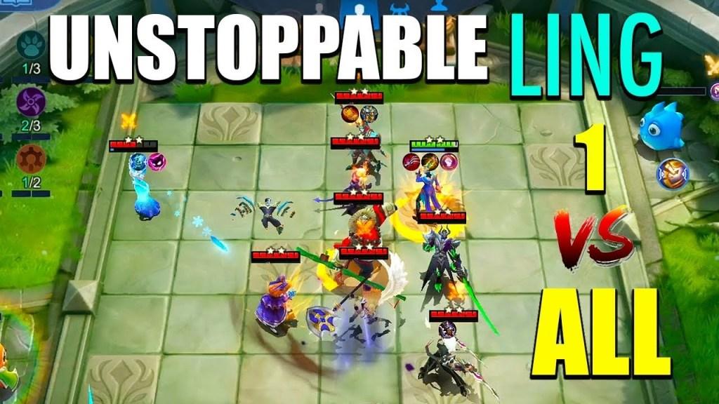 Ling 100% BROKEN | Assassin Most OP Strategy?! Magic Chess ~ Mobile Legends