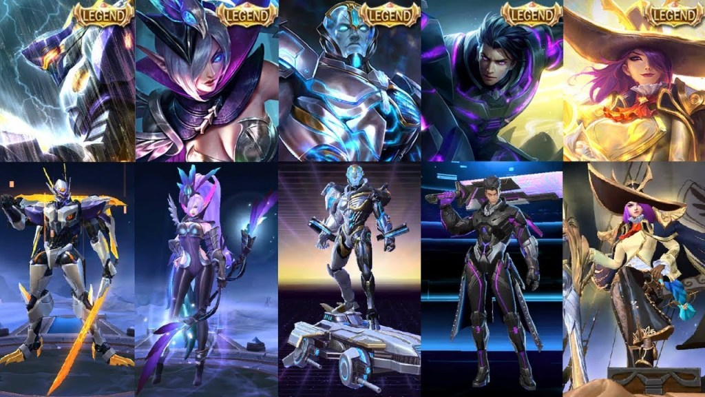 ALL LEGENDARY SKIN REVIEW - Who's The Best Among Best Legend Skins In Mobile Legends