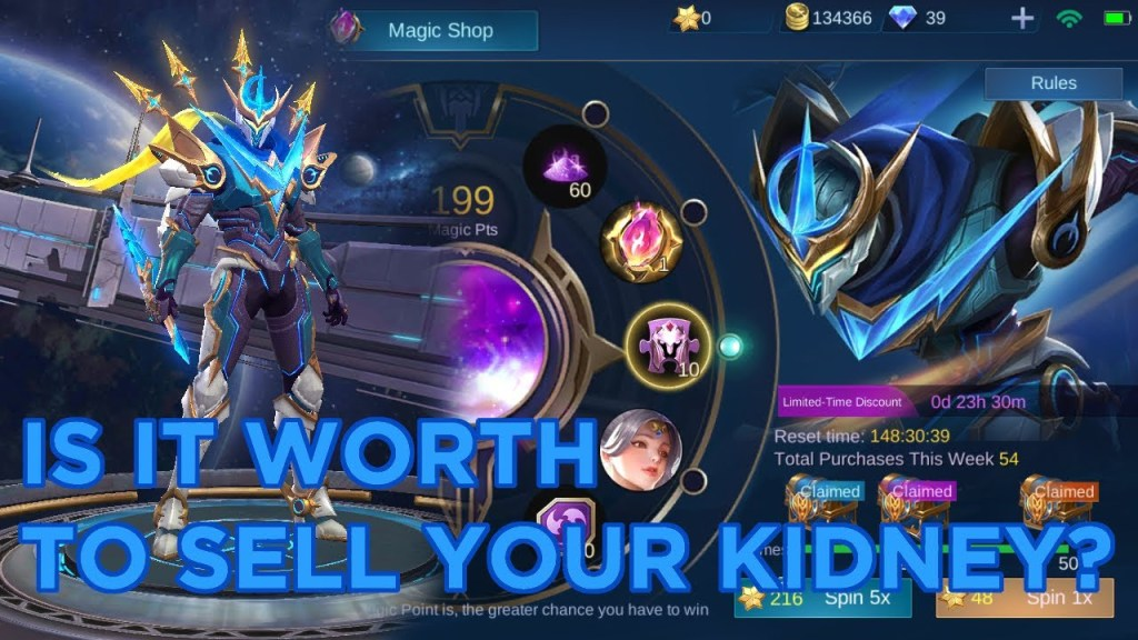 GETTING GUSION COMSMIC GLEAM | Mobile Legends Magic Wheel Hacks