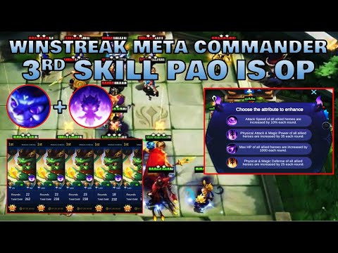 NEW META COMMANDER PAO - MAGIC CHESS TIPS & GAMEPLAY | Mobile Legends Bang Bang