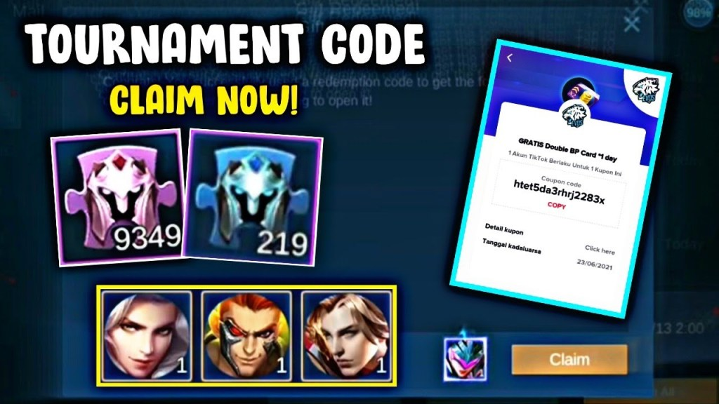 Tournament Redeem Code Skin & Diamonds + Fragments | Claim Now! | Mobile Legends