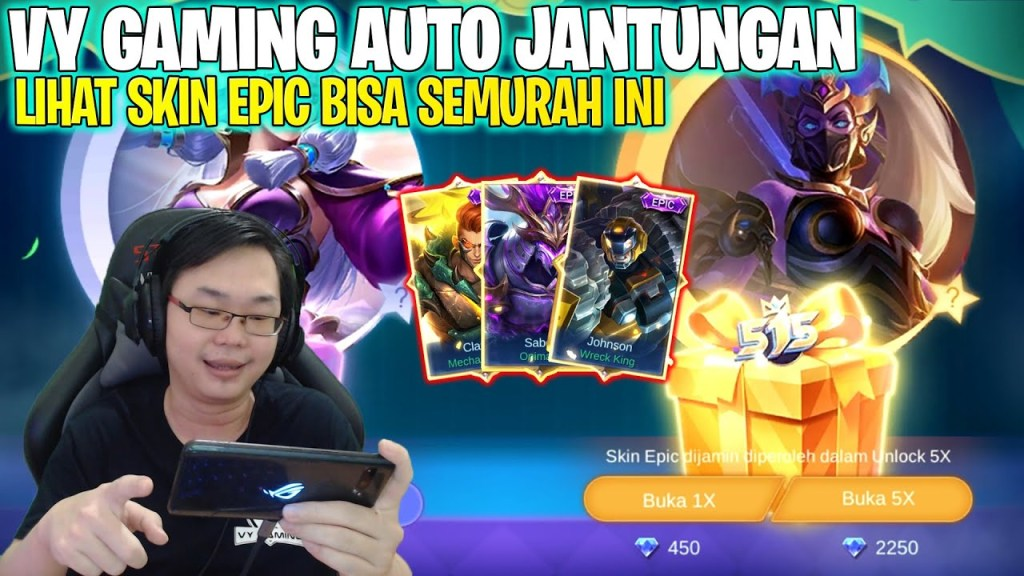 BORONG PARTY BOX 515 MOBILE LEGENDS! VY GAMING AUTO JANTUNGAN LIHAT SKIN EPIC SEMURAH INI!!!
