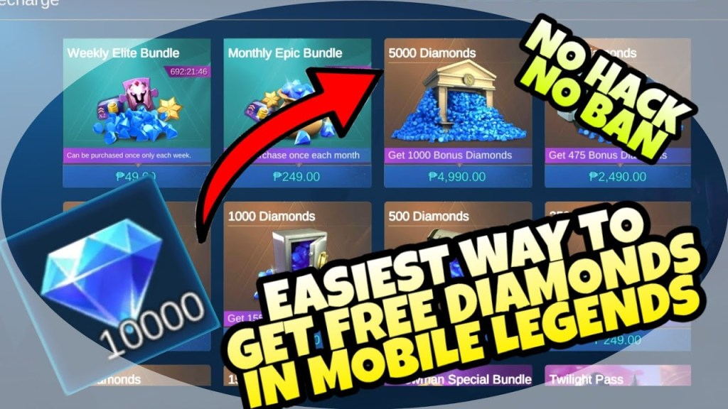 EASIEST•WAY TO•EARN•DIAMONDS IN MOBILE LEGENDS NO•BAN NO•HACK- MLBB