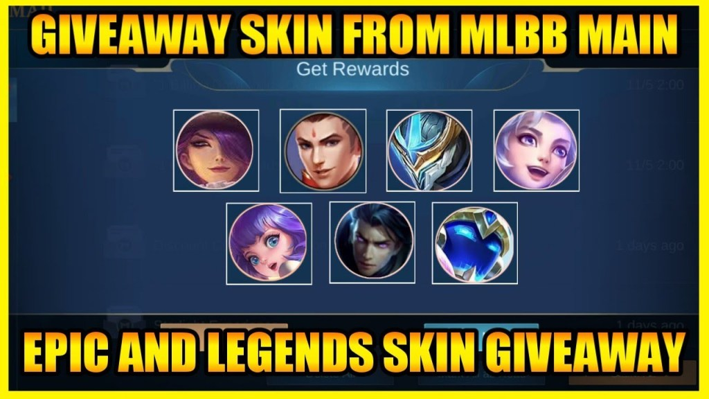 "Get "" Epic Skin "" and "" Legends Skin "" from MLBB | MOBILE LEGENDS BANG BANG"