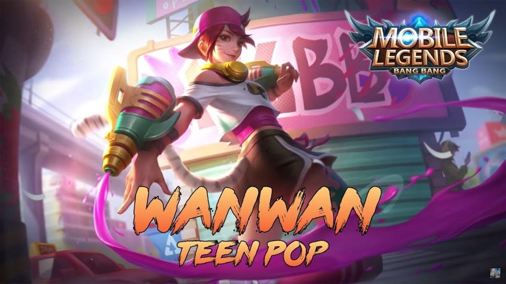 Main Wanwan Pakai Skin Terbaru Hampir Savage - Mobile Legends