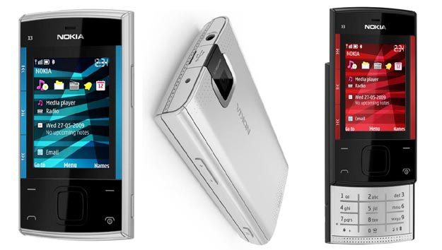nokiax Budget Nokia X3 Feature Phone Plays FM without Headset