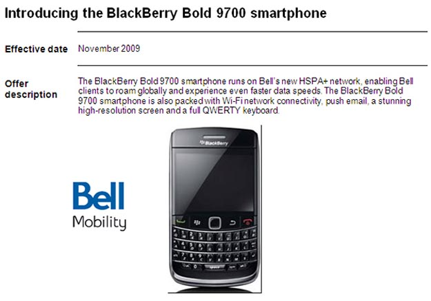 bellhspa HSPA Launch List for Bell Mobility Revealed