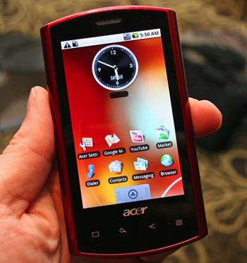 acerandroid First Acer Android Smartphone Ready to Ship This Week