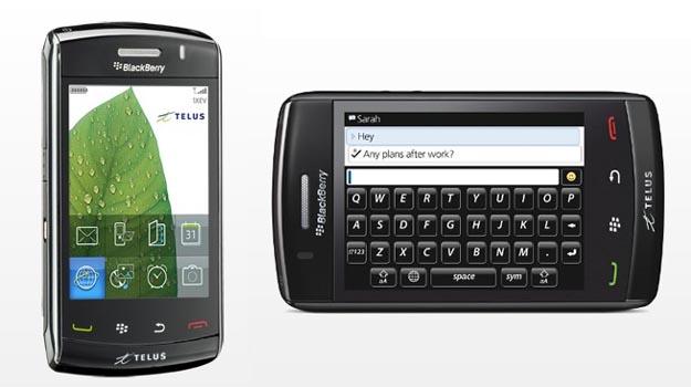 telusstorm BlackBerry Storm2 9550 Arrives at Telus Mobility