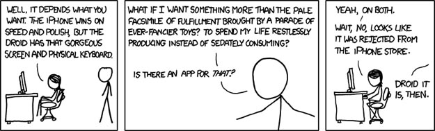 xkcd XKCD Settles iPhone vs. Droid Debate