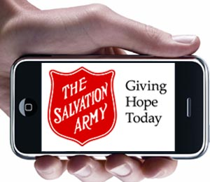 salvation Text-to-Donate to the Salvation Army Canada