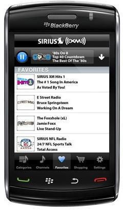 Blackberry-get-Sirius-XM-radio BlackBerry to get Sirius XM, shhh