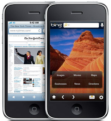 bing Apple to bring the Bing to iPhone?
