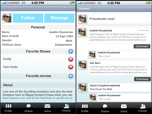 rippol Video Rippols on the iPhone, Social you-tubing the next big thing?