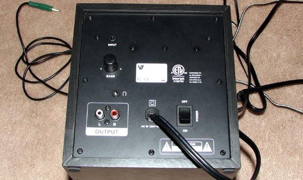 v7speakers-2 REVIEW - V7 A321P 2.1 Multimedia Speaker System