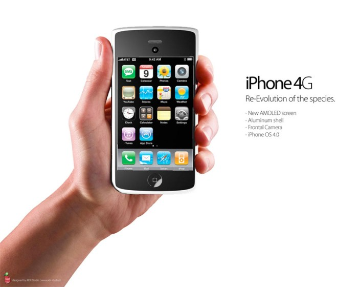 iPhone4g-concept-1 The iPhone 4G revealed, beautiful new concepts from Italian studio ADR