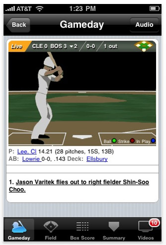 mlbatbat.01 Review: MLB at Bat 2010 for iPhone and iPad, Watch live games and more