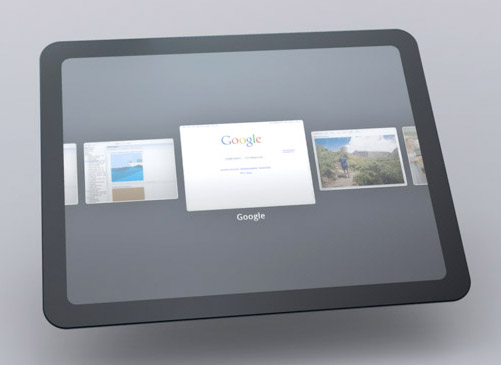 google-tablet-concept Google to work on iPad killer with Verizon Wireless, HTC too?