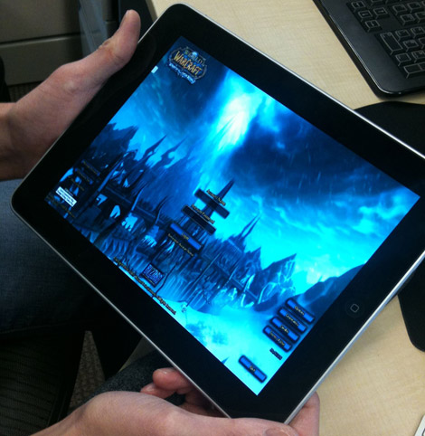 wow World of Warcraft streamed to the iPad